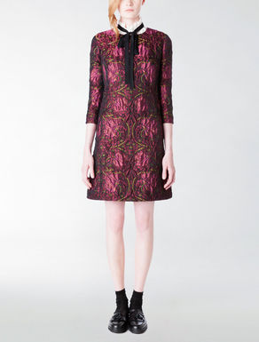 Macro-flower jacquard dress