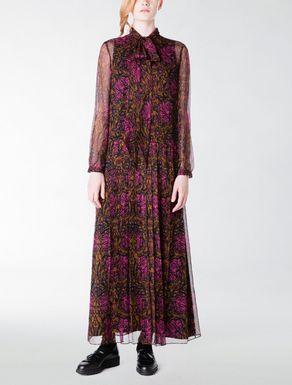 Long silk creponne dress