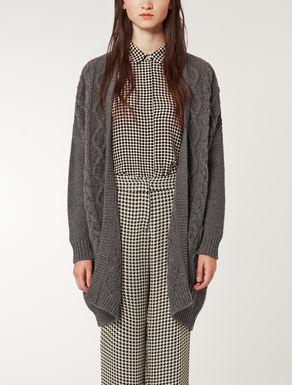 Pure wool knit maxi cardigan