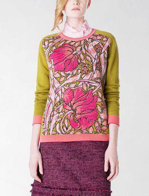 Wool jacquard shirt