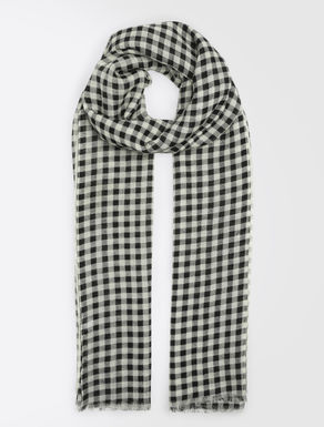 Pure wool gingham stole