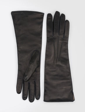 Mid-length nappa leather gloves
