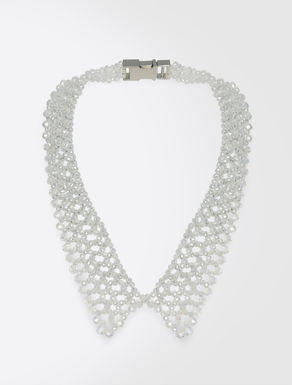 Glass bead collar necklace