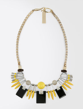 Necklace with geometrical elements