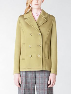 Double breasted jersey pea coat