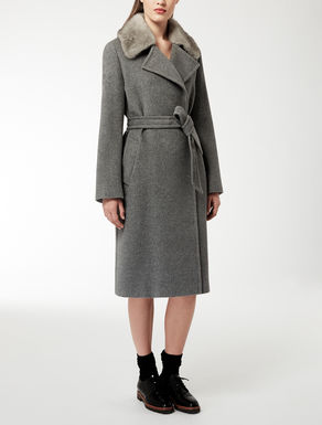 Wool, silk and angora coat