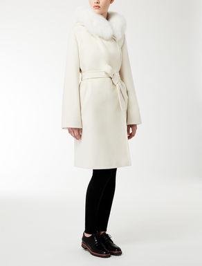 Wool, silk and angora coat