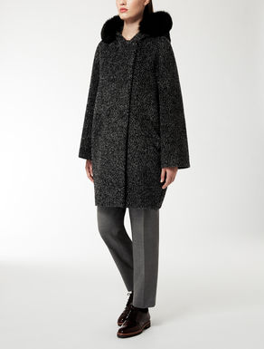 Heavy alpaca and wool jacket