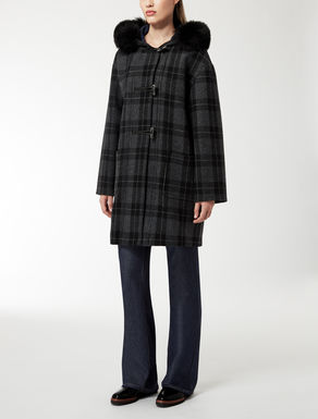 Wool and nylon coat