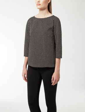 Jacquard knit shirt