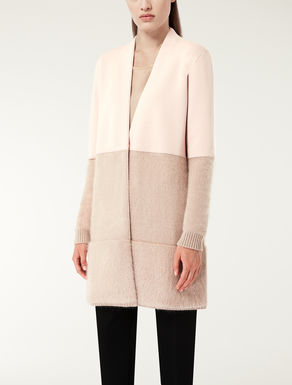 Wool, silk and angora cardigan