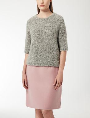 Bouclé wool knit shirt