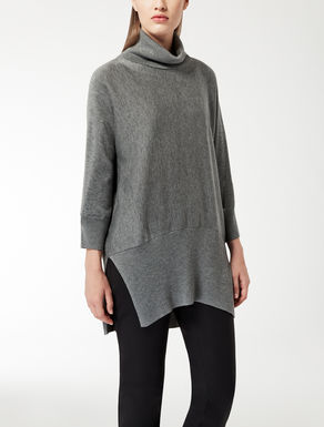 Oversized wool and silk knit shirt