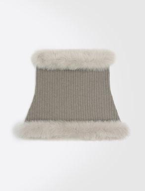 Wool and fur collar