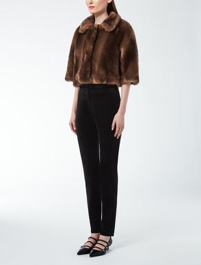 Synthetic fabric fur coat