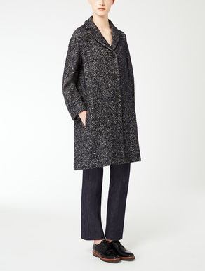 Bouclé tweed coat