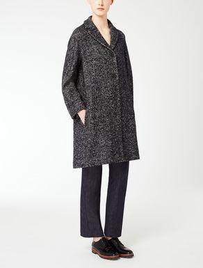 Manteau en tweed bouclé