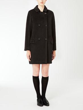 Manteau en peluche d'alpaga et laine