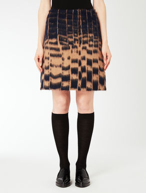 Wool and alpaca jacquard skirt