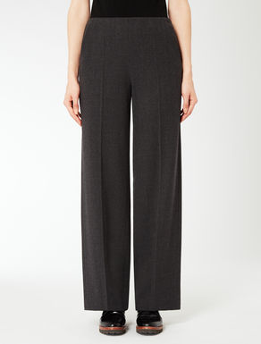 Loose-fitting flannel trousers