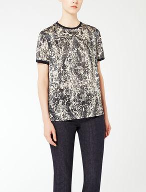 Camiseta de raso de seda