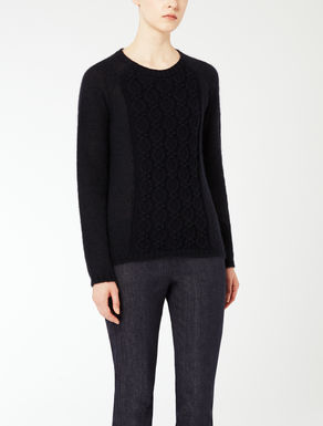 Boxy mohair knit shirt