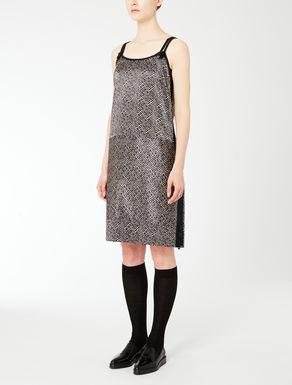 Vestido de raso de seda