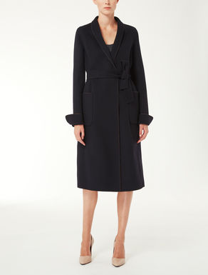 Wool and angora coat