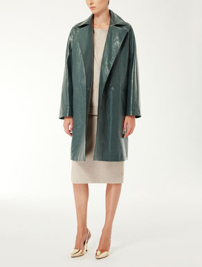 Cotton canvas raincoat