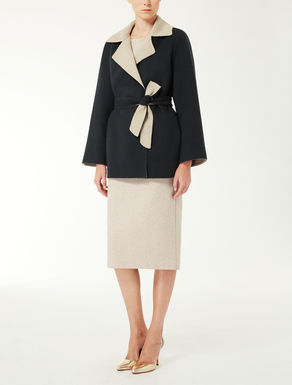 Reversible wool and angora jacket