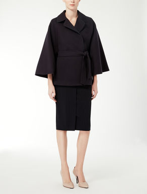 Wool and angora cape
