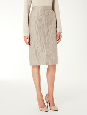 Cotton and silk tube skirt