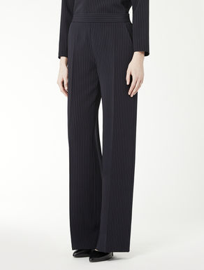 Wool and silk trousers