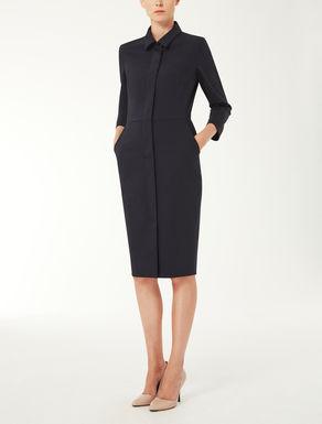 Wool poplin dress