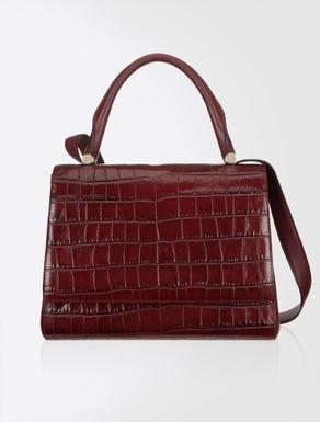 Crocodile embossed leather JBag
