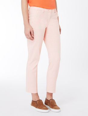 Cigarette trousers in patterned jacquard