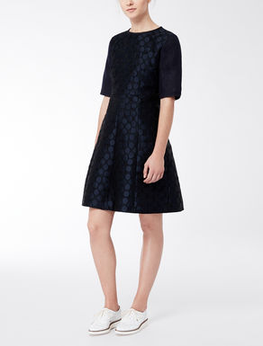 Dress in maxi polka dot jacquard