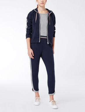 Jumpsuit in cotton blend jersey