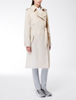 Trench-coat en sergé de viscose