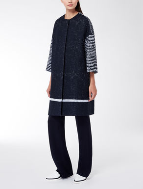 Jacquard knee-length coat