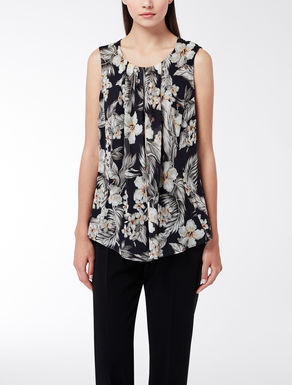 Top in georgette di seta