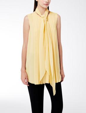 Camisa de georgette de seda