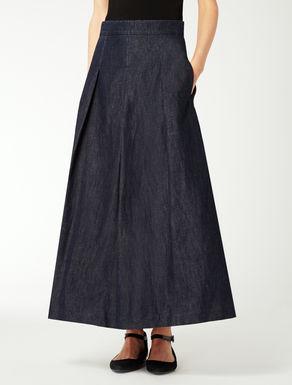 Falda de denim de algodón