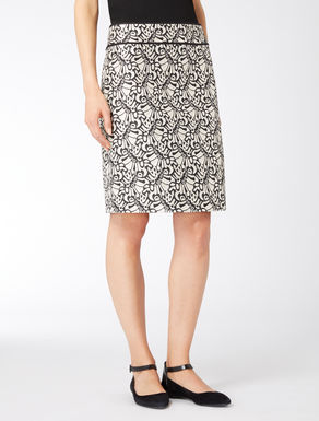Lurex and jacquard skirt