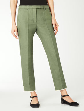 Linen and cotton trousers
