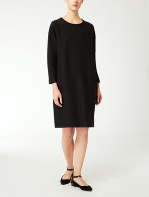 Viscose and wool dress