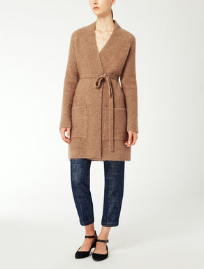 Mohair knit coat