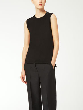 Wool, silk and cashmere top