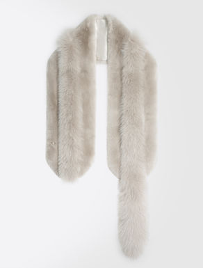 Rabbit and fox fur scarf