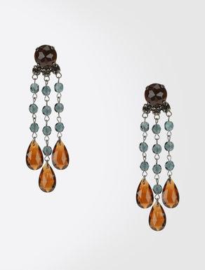 Pendientes colgantes con perlas